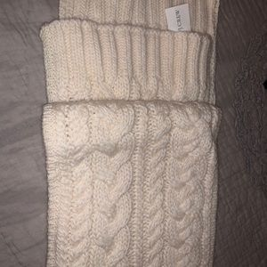 JCrew cable knit ivory scarf